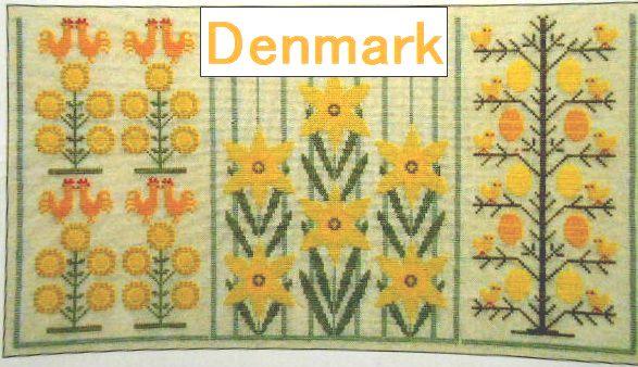 デンマーク刺繍 図案/本・クロスステッチ
